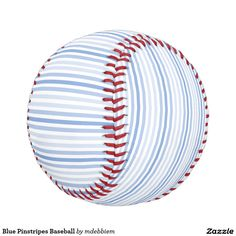 Blue Pinstripes Baseball