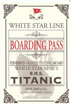 titanic boarding pass replica