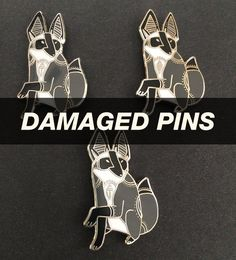 DAMAGED Mother of Foxes Pins by LionintheTrees on Etsy