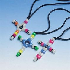 Beaded Cross Necklace Craft Kit - Perfect for VBS