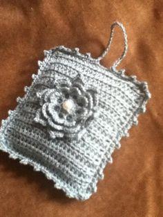 Crocheted lavender sachet by @HookandRose