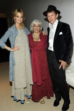 CFDA/Vogue Fashion Fund nominee Natalie Chanin, center, with Caroline Trentini, left, in Alabama Chanin, and Butc...
