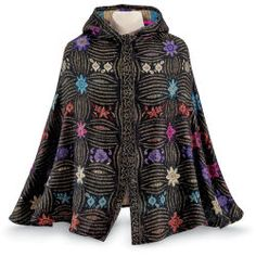 Tapestry Hooded Cape - Women's Clothing & Symbolic Jewelry – Sexy, Fantasy, Romantic Fashions Pyramid Collection, New Today, Vest Jacket, Style Inspiration, Boho, Beautiful, Unique, Sexy, Tapestry