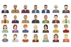 People avatars collection. Human Icons. $5.00