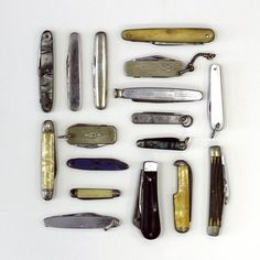 Ill be your knife in the fist fight. aldrtree:  Vintage pocket knives
