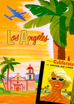 Los Angeles Southern California United States Travel Advertisement Art Poster