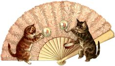 Divided Back Postcard Fan, Blowing Bubbles Cats Bubble Tattoo, Bubble Cat, Antique Fans, Blowing Bubbles, Paper Fans, Cat Art, Cute Cats, Cats And Kittens, Dog Cat