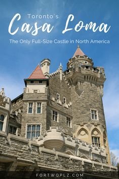When visiting Toronto, you cannot miss out on Casa Loma, the only real full-size castle in North America! north america travel Casa Loma: Fairyland in Toronto City Visit Toronto, Toronto City, Toronto Travel, Ottawa, Quebec, Vancouver, Culture Travel, Canada Travel, Travel Guides