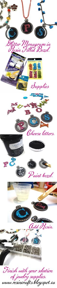 DIY Personalized Monogram Resin Jewelry
