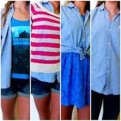 These ways to wear a chambray shirt plus four more in today's post!