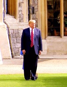 """President Trump briefly walked ahead of Queen Elizabeth II during his visit to Windsor Castle on Friday, July The Sound of Music """"So Long, Farewell,"""" Windsor Castle, Sound Of Music, New Love, Downton Abbey, Elizabeth Ii, World War Ii, Presidents, Art, World War Two"""