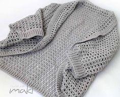 Crochet pattern  Short sleeve SUMMER CARDIGAN in sizes small