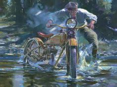 Motorcycle in Art