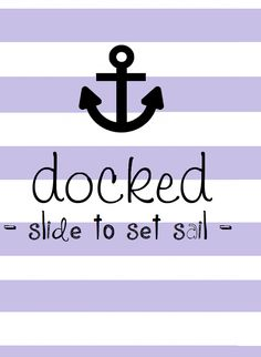 Docked - slide to set sail - iPhone wallpaper Cocoppa Wallpaper, Handy Wallpaper, Iphone 5 Wallpaper, Wallpaper For Your Phone, Locked Wallpaper, Cellphone Wallpaper, Lock Screen Wallpaper, Pattern Wallpaper, Phone Wallpapers