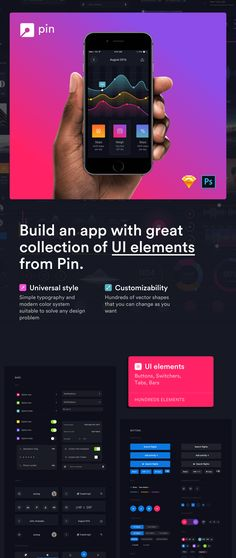 Huge set of mobile UI Elements designed in Sketch & Photoshop Mobile App Design, Mobile Ui, Dashboard Mobile, Sketch Photoshop, Web Design, Build An App, Ui Design Inspiration, Ui Elements, User Interface Design