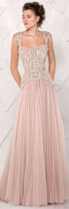 Peach Pink Gown - Flashy Texas Bridesmaid Inspiration Dress!