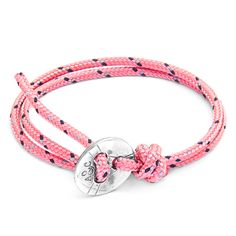 Pink Lerwick Rope and Silver Bracelet  £70