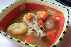"An Alluring Caribbean Chicken Soup.  ""Trini Chicken Soup"""