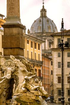 Piazza Navona, Rome (by Sanford Morse)