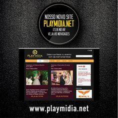 Criação do Logotipo e do novo site da marca Playmídia Eventos e Fotos.