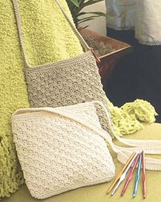 Casual Crochet Shoulder Bag pattern by Erin Elkins Cable