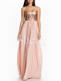 Pink Shantung Bra Bustier Young Trending Posh Hugging Strapless Glittering Sequined Glitzy Bandeau Perfect Homecomming M 19.99