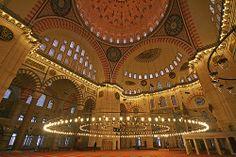 Vue intérieure de la mosquée de Soliman-Istanbul