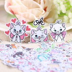 Aliexpress.com : Buy 40pcs Self made Cartoon White Cat Scrapbooking Stickers Fruits DIY Craft Sticker Pack Photo Albums Deco Diary Deco from Reliable sticker distributors suppliers on Candy DIY Store