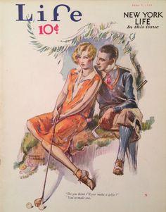 Life Magazine June 1929 Golf Cover