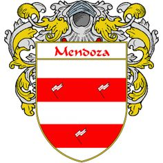 Mendoza Coat of Arms   http://spanishcoatofarms.com/ has a wide variety of products with your Hispanic surname with your coat of arms/family crest, flags and national symbols from Mexico, Peurto Rico, Cuba and many more available upon request.