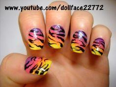 lisa frank inspired zebra