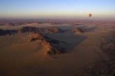 Ballooning over the Morocco desert