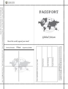 Free Printable Passports for World Thinking Day Montessori, Passports For Kids, Passport Template, Multicultural Activities, English Activities, Around The World Theme, Passport Wedding Invitations, World Thinking Day, Teaching Social Studies