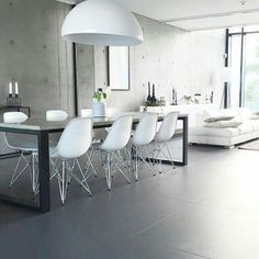 And here is @betonitalo dinning room, love the pendant light and the concrete feature wall #loveandrascals