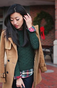 (I love the cable on the sweater... perhaps it's in my knitting future?!?) @Extra Petite Blog