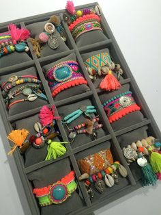 Boho GypSy bracelets with a splash of fluor at the new Yehwang SPRING SUMMER…