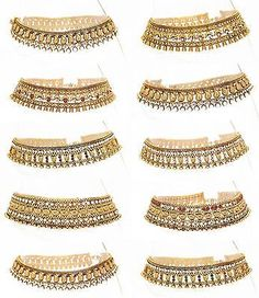 Stunning Diamante Anklet Ankle Chain Indian Payal Bollywood Single or Pair Toe Ring Designs, Anklet Designs, Silver Anklets, Beaded Anklets, Gold Anklet, Anklet Jewelry, Wedding Jewelry, Feet Jewelry, Golden Jewelry
