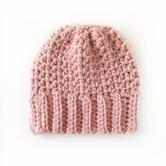 This is a free pattern for a crochet bun beanie. It's simple and fast. Especially when you use Bernat Roving Wool. It's a nice blend that gives great stitch definition. If you are an experienced crocheter, this hat should take around an hour to make. Beginners, give yourself a little more time.