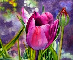 painting tulips in watercolor - Google Search