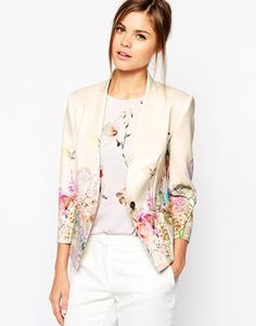 Eye drawn to this beautiful floral, cream blazer on asos, it would be the most expensive one!