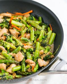 Orange Chicken and Vegetable Stir Fry Recipe ~ really easy and quick to make... This stir fry is packed with broccoli, asparagus and plenty of juicy chicken.