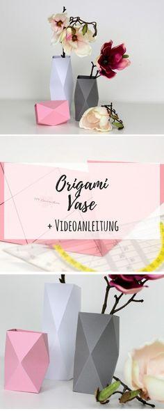 DIY Origami Vasen in weniger als 5 Minuten selber machen {mit gratis Schnittmuster} / Geniale Dekoration aus Papier: DIY, Basteln, Selbermachen, Dekoration, Origami, Vase, Papiervase, Geschenk, Geschenkidee, Anleitung, Tutorial #Dekoration #DIY #Basteln #Selbermachen #Origami #Papiervase #Geschenkidee #Geschenk #Bastelidee