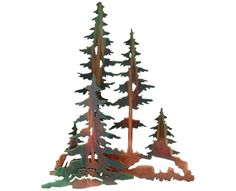 Old Growth Pine Forest Metal Wall Art