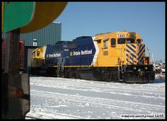 Ontario Northland Polar Bear power stands ready for duty on New Year's Eve at Cochrane. Happy New Year!