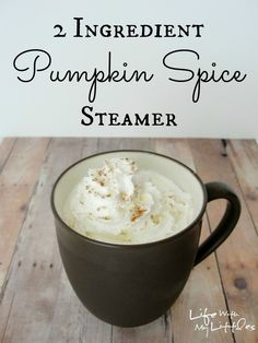 2 Ingredient Hot Pumpkin Spice Steamer: A delicious fall drink that is easy and warms you right up!