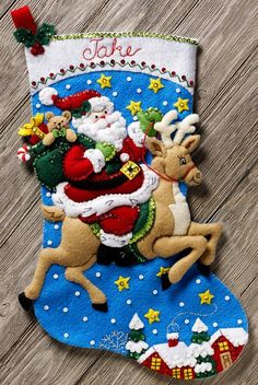 This complete kit includes This is just one of several new Christmas Felt kits being released for Fall The only way to get a kit in newer condition is to pick it up in person from the factory. Felt Stocking Kit, Christmas Stocking Kits, Felt Christmas Stockings, Christmas Gifts For Women, Christmas Crafts, Christmas Ornaments, Christmas Presents, Felt Decorations, Christmas Decorations