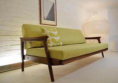 MID CENTURY MODERN GUY ROGERS SOFA BED RETRO VINTAGE DANISH 50s 60s DAY HEALS