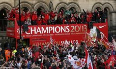 The Manchester United bus arrives in Albert Square