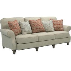 This handsome sofa is the perfect place to kick back and relax after a long day at work. Cozy cream chenille upholstery offers unbeatable style while the plush cushions make this piece an ideal choice