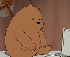 Why does that make mama bear 😔? Mood Wallpaper, Bear Wallpaper, Disney Wallpaper, Wallpaper Backgrounds, Cartoon Icons, Cartoon Art, Bear Meme, We Bare Bears Wallpapers, We Bear